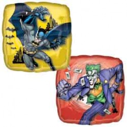 Batmann et Joker ballons mylar 45 cm à plat Batman