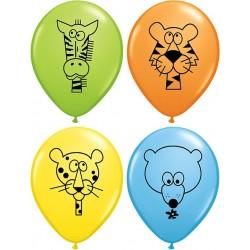 animaux de la jungle ballons baudruche