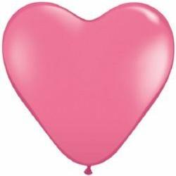 Coeur qualatex 38 cm rose foncé
