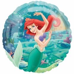 Ariel princesse sirène ballon métal
