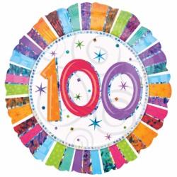 100 rond mylar 45 cm à plat 100Em Anniversaire Ballons Et Decorations