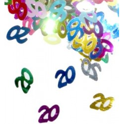 confetti mulicouleur métallique 20