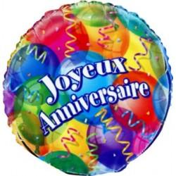 joyeux anniversaire 45 cm de diamètre mylar