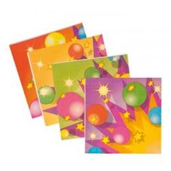 Serviettes papier décorés Fête Et Ballons Le Decor