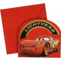 6 INVITATIONS CAR'S