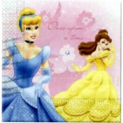 16 serviettes princesses Disney 2 plis 33*33 cm