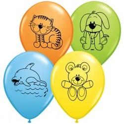 ANIMAUX ENFANTS ballons baudruche 28 cm 1Er Anniversaire