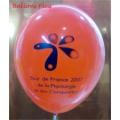 Impression 1 face 1 couleur 1000 exemplaires sur ballons 30cm Ø 30 Cm Ø Imprimer Des Ballons 30 Cm