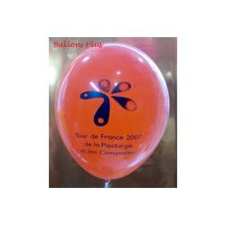 Impression 1 face 1 couleur 1000 exemplaires sur ballons 30cm Ø