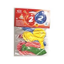 Ballons imprimés 2 tout autour Chiffres De 1 A 10 Anniversaire