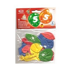 Ballons imprimés 5 tout autour Chiffres De 1 A 10 Anniversaire