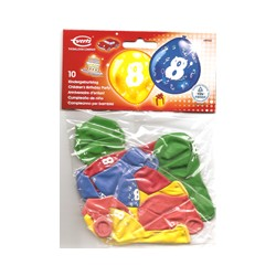 Ballons imprimés 8 tout autour