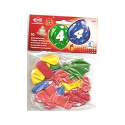 Ballons imprimés 4 tout autour48946 AMSCAN Chiffres De 1 A 10 Anniversaire