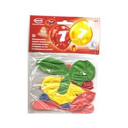 Ballons imprimés 7 tout autour Chiffres De 1 A 10 Anniversaire