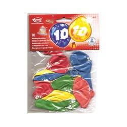 Ballons imprimés 10 tout autour Chiffres De 1 A 10 Anniversaire