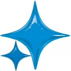 star point ballon mylar bleu saphir 100 cm32012 QUALATEX Star Point 40 (100 Cm) Helium Ou Air