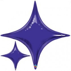 star point ballon mylar violet 100 cm31873 QUALATEX Star Point 40 (100 Cm) Helium Ou Air