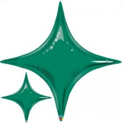 star point ballon mylar vert 100 cm