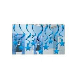 Etoile bleu supspensions67107.01 AMSCAN Noël