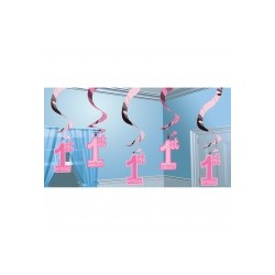 Premier Anniversaire BABY PINK Suspensions Decorations