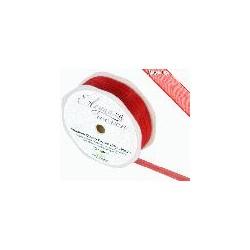 Ruban organza rouge 10mm*20 m