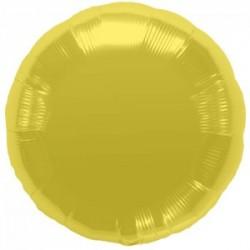 ballon mylar métal rond or 45 cm à plat