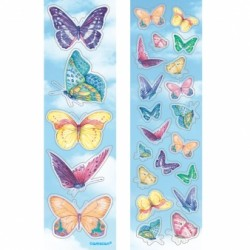 stickers papillons 8 planches Stickers