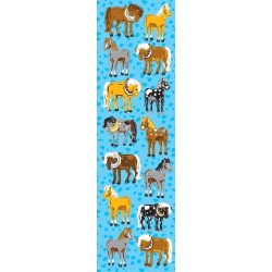 stickers chevaux 8 feuilles Stickers
