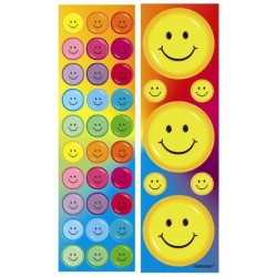 stickers smiles rainbow 8 feuilles
