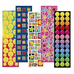 stickers smiles 10 feuilles 350 Stickers