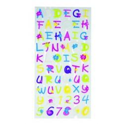 stickers velours alphabet fleur 1 feuille Stickers