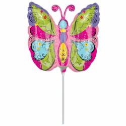 papillon 22 cm non gonflé (air sur tige) Animaux