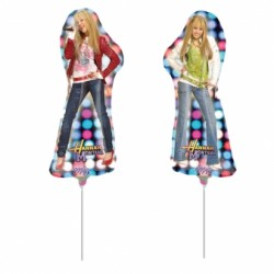 Hannah Montana ballons mini mylar air vendu non gonflé avec tige
