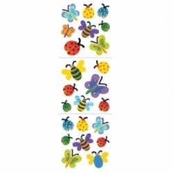 STICKERS PAPILLONS COULEURS 1 feuille Stickers