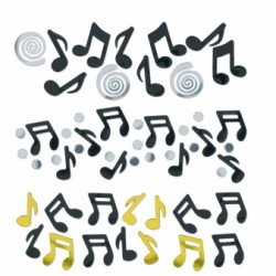 OR ET NOIR confettis metal musiques notes 369145 AMSCAN Confettis Metalliques Pour Decoration Tables