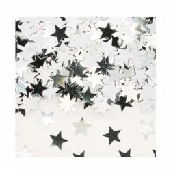 confettis metal étoiles ARGENT 14grs