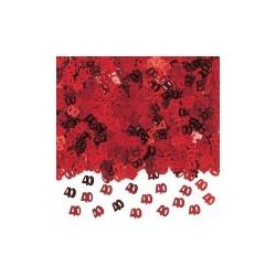 confetti ROUGE métallique 40 en sachet de 14 grammes