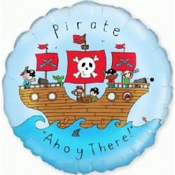 Pirate à l'abordage ballon mylar 45 CM