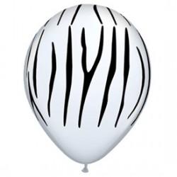 RAYURE ZEBRE imprimé ballons baudruche