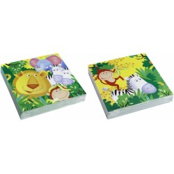 20 Serviettes safari jungle 33*33