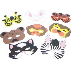 8 MASQUES ANIMAUX Petits Jouets + Mixtes