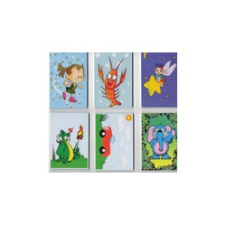 6 Carnets coloriage 30 pages 8.5x5.5 cm
