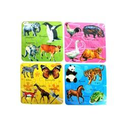puzzle 14*14 cm *4 Peche Aux Canards
