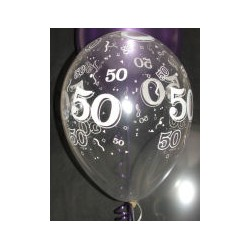 50 cristal transparent 28 cm de diamètre qualatex