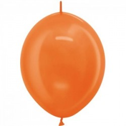 ballons double attache Link o loon 30 cm métal orange Ballons Double Attaches 30Cm Couleurs Metals Et Satin Perle