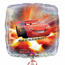 Car's ballon holographique mylar carré 45 cm