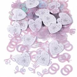 ALLIANCES MARIAGE CONFETTIS DE TABLE Confettis Metalliques Pour Decoration Tables