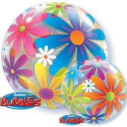 bubble ballon funky flowers 56cm