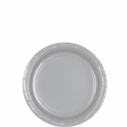 Assiettes petites carton 17,8 cm argent