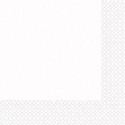 Serviettes blanc 33*33 3pli AMSCAN BLANC